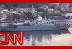 Russian spy ship sails recklessly off US coast