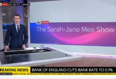 Bank of England cuts bank rate to 0.1%