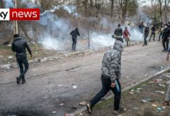 Migrant 'shot dead by Greek police' at Turkish border