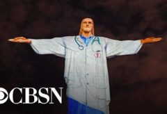 Christ the Redeemer statue lit up as a doctor to honor medical workers during coronavirus