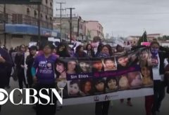 """Protesters hold """"A Day Without Women"""" strike in Mexico following a series of murders"""