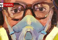 The portrait artists immortalising our NHS heroes