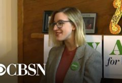 Amy Klobuchar's daughter speaks with voters