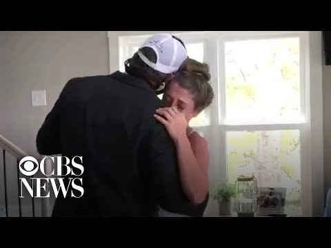 Dad creates prom at home for high school senior